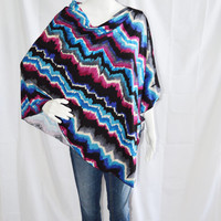 Chevron Nursing Poncho/ Full Coverage Nursing Cover/ Nursing Shawl/ Off the shoulder top/ Modern Poncho/ New Mom Gift
