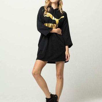 PUMA Glam Womens Oversized Hoodie Dress