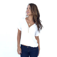 Wrap Me Up Blouse In Ivory