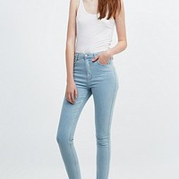 Light Before Dark High-Rise Skinny Jeans in Powder Blue - Urban Outfitters