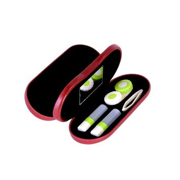 2-in-1 Eyeglass and Contact Lens Case Double Use Portable for Home Travel Kit