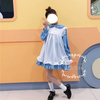 J-fashion Harajuku 3 Colors Two Piece Simple Long Sleeve Casual Dress LK18042310 from lolita store