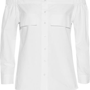 W118 by Walter Baker Sunny off-the-shoulder cotton top – 50% at THE OUTNET.COM