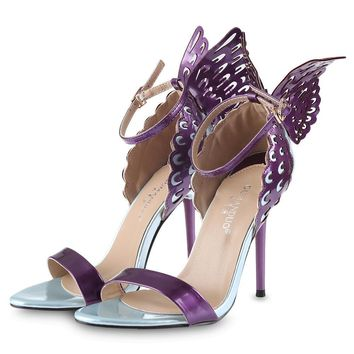 Butterfly Wings Women Thin High Heel Sandals