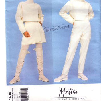 Vintage Vogue 1484, Paris Original, Montana, Size 6, 8,10, Misses Jacket, Skirt, Pants