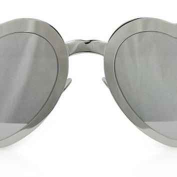 Saint Laurent SL 196 LOULOU Heart Metal Frame Sunglasses