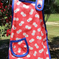 Mommy & Me or Grandma / Me Aprons with Matching Pot Holder - Farmhouse, Retro, Vintage Look Style