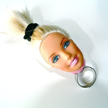 Vintage Barbie Head Adjustable Ring by MoonShineApparel on Etsy