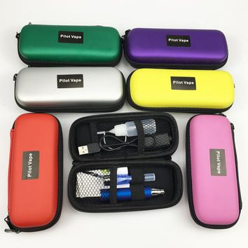 Pilot vape EGo CE4 Electronic Cigarette Starter Kits 650-1300mAh Ego Zipper Carry Case Battery eGo CE4 E Cig Pen Kit 10 color