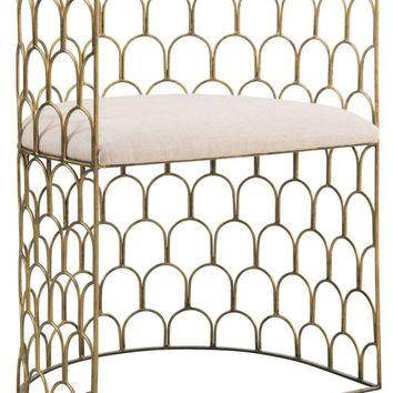 Abby Gold Metal Chair