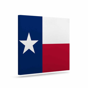 "Bruce Stanfield ""Flag of Texas"" Blue Red Canvas Art"