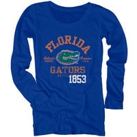 Florida Gators Women's Medusa Scoop-Neck Long Sleeve T-Shirt