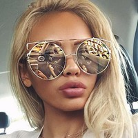 Metal Stylish Ladies Fashion Sunglasses [45271908377]
