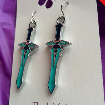 Sword Art Online The Dark Repulser Kirito Sword Earrings Cosplay
