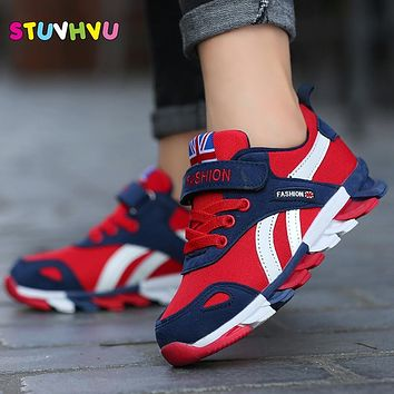 2018 New Children shoes boys sneakers girls sport shoes size 26-39 child leisure trainers casual breathable kids running shoes