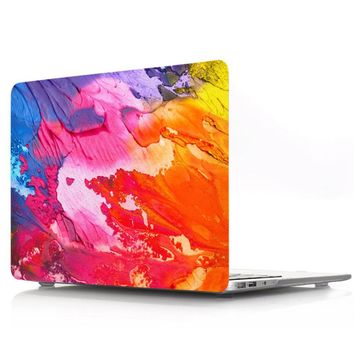 Nature Oil Painting Transparent Crystal For Apple Mac Macbook Pro 15 Case Cover Macbook Pro 13 15 Inch With Retina Display A1502