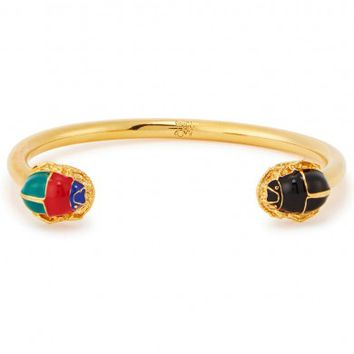 MFP-MariaFrancescaPepe The Eternity Scarab 23kt gold-plated bracelet