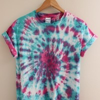 LIMITED TIME Teal and Pink Tie-Dye Swirl Unisex Shirt