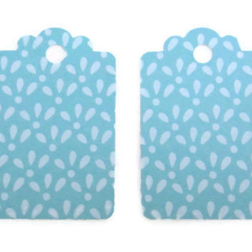 Gift Tags Blue Tear Drop Print Set of 28