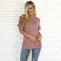 Bows & Whistles Top in Mauve