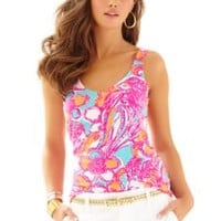 Printed Tabbie V-Neck Tank Top - Lilly Pulitzer