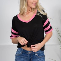 On Edge Black Sport Top