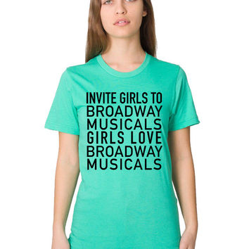 Broadway Shirt - Womens Broadway Musical - Show Tunes - I Am Pretty Sure A Duet Is A Blanket - New York City - Musical Theater - Music Shirt