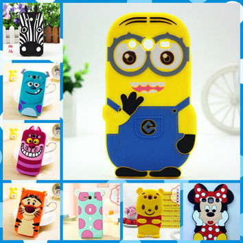 Hot sales! 3D Minions Phone Silicone soft Case Cover For Samsung Galaxy Core 2 II Core2 Case G355 G355H G3559 Cases Gel Shell