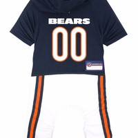 Chicago Bears Dog Uniform One-Piece Officially Licensed NFL Football Product