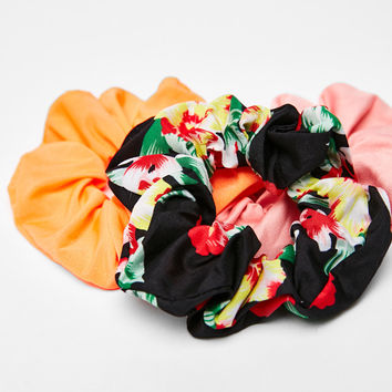 Floral print hair ties - Hair Accessories - Bershka United States