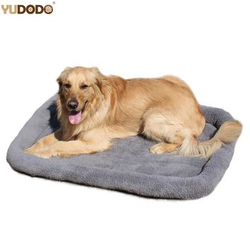 Large Dog Beds Gray Warm Soft Blanket For Small Medium Pet Cat