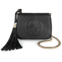 Gucci - Soho small textured-leather shoulder bag