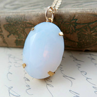 Opal Pendant Necklace on Gold Filled Chain