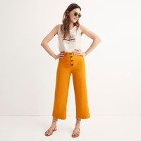 Emmett Wide-Leg Crop Pants: Button-Front Edition : shopmadewell pants | Madewell