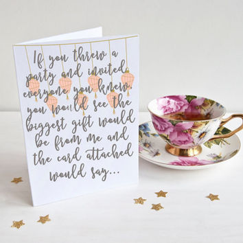 Thank You For Being A Friend Card - A Thank You Card