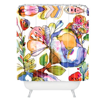 CayenaBlanca Blossom Pastel Shower Curtain