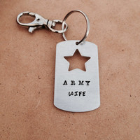 Army Wife - Keychain with Swivel clip keyring, Army Wife, Military