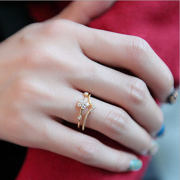 Jewelry New Arrival Shiny Gift Korean Stylish Crown Ring [6586195591]