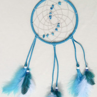 Turqouise suede dreamcatcher-wall hanging bedroom decoration