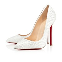 PIGALLE PYTHON CRYSTAL,GLACIER,Python,Louboutin,Women Shoes
