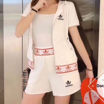 """Adidas""Summer Cardigan Fashionable Sexy Shorts Suit"