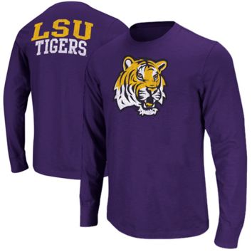 LSU Tigers Touchdown Long Sleeve T-Shirt - Purple