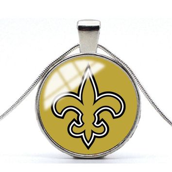 1PC American football Statement Chain Necklace Fashion washington redskins Silver Color Glass Cabochon Football fans Jewelry