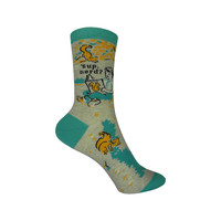 'Sup Nerd Crew Socks in Teal