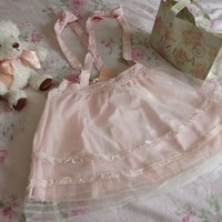 Liz Lisa Organza Overlay Salopette/Suspender Skirt (NwoT) from Kawaii Gyaru Shop