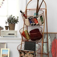 Three-Tier Basket Shelf in Copper - Urban Outfitters