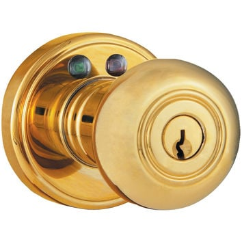 Morning Industry Inc Remote Control Electronic Entry Knob (polished Brass Finish)