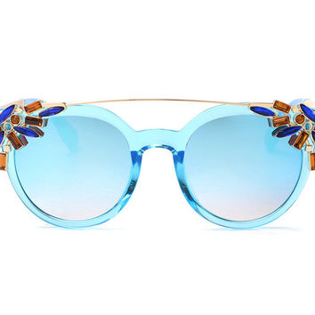 Crystal Decorated Sunglasses
