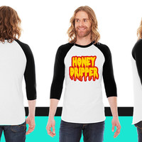 Honey Dripper 2 American Apparel Unisex 3/4 Sleeve T-Shirt