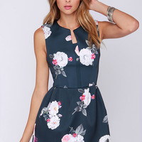Cameo The Outcome Grey Floral Print Dress